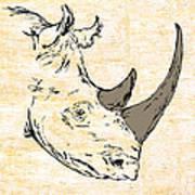 The Rhino Art Print