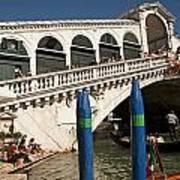 The Rialto Bridge Of Venice Art Print