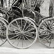 The Rickshaws Art Print