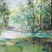 The River Going Out From The Forest Art Print