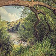 The River Severn At Buildwas Art Print by Amanda Elwell