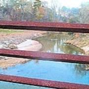 The River Through The Rails Art Print
