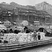 The Riverfront Of Chungking, China Art Print
