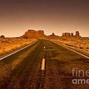 The Road To Monument Valley -utah  Art Print