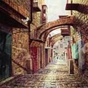 The Road To The Cross  Jerusalem Art Print