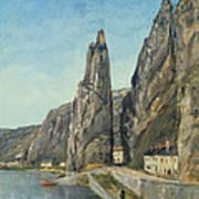 The Rock At Bayard, Dinant, Belgium Art Print