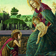 The Rockefeller Madonna. Madonna And Child With Young Saint John The Baptist Art Print