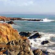 The Rocky Coastline Meets The Ocean Art Print