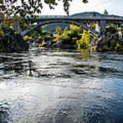 The Rogue River At Gold Hill Bridge Art Print