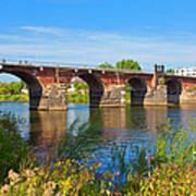 The Roman Bridge Over Mosel River In Art Print