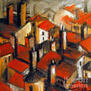 The Roofs Of Lyon Art Print