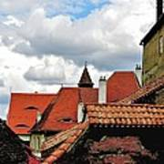 The Roofs Of Sibiu In Transylvania Art Print