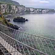 Rope Bridge Northern Ireland Art Print