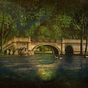 The Rose Pond Bridge 06301302 - By Kylie Sabra Art Print