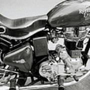 The Royal Enfield Motorbike Art Print