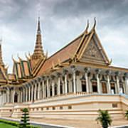 The Royal Palace And Silver Pagoda In Art Print