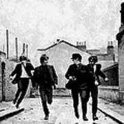 The Running Beatles Poster