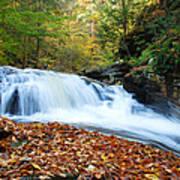The Rushing Waterfall Art Print
