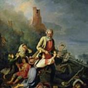 The Russians In 1812, 1855 Oil On Canvas Art Print