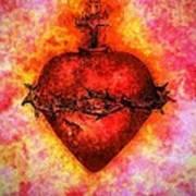 The Sacred Heart Of Jesus Christ Art Print