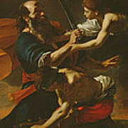 The Sacrifice Of Isaac, 1613 Oil On Canvas Art Print