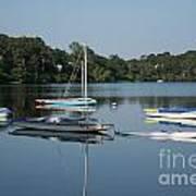 The Sailboats At Great Pond Art Print