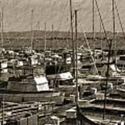The Sailing Pier Art Print