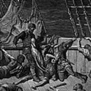 The Sailors Curse The Mariner Forced To Wear The Dead Albatross Around His Neck Art Print