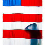 American Flag Salute Art Print