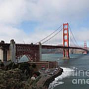 The San Francisco Golden Gate Bridge - 5d18909 Art Print by Wingsdomain Art and Photography