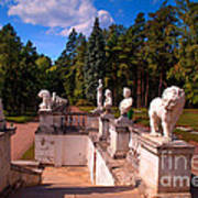 The Satutues Of Archangelskoe Palace. Russia Art Print