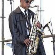 The Saxophone Player Art Print