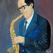 The Saxophonist Art Print