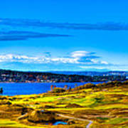 The Scenic Chambers Bay Golf Course Iv - Location Of The 2015 U.s. Open Tournament Print by David Patterson