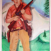 The Scout Portrait Of The Artist At Age 24 Art Print