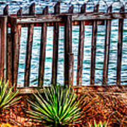 The Sea Fence Siesta Key Fla. Art Print
