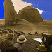 The Searchers   Cast And Crew Monument Valley Arizona 1956 Art Print
