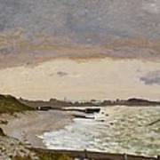 The Seashore At Sainte Adresse Art Print