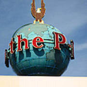 The Seattle Pi Globe Sign Art Print by Kym Backland