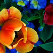 The Secret Life Of Tulips Art Print