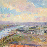 The Seine At Rouen Art Print