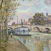 The Seine In Paris  Art Print