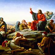 The Sermon On The Mount  Art Print