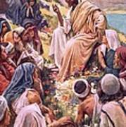 The Sermon On The Mount Print by Harold Copping