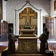 The Serra Cenotaph In Carmel Mission Art Print