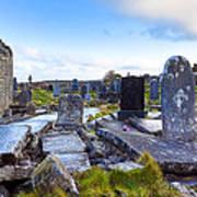 The Seven Churches Ruins On Inis Mor Art Print
