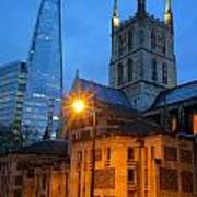 The Shard And Southwark Cathedral Art Print