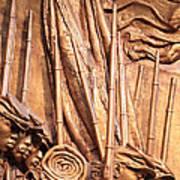 Saint Gaudens -- The Shaw Memorial's Left Side Art Print