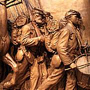 Saint Gaudens -- The Shaw Memorial's Right Side Art Print