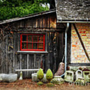 The Shed At Monches Farm Art Print by Mary Machare